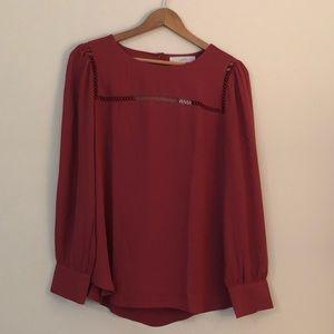 LOFT rust color blouse